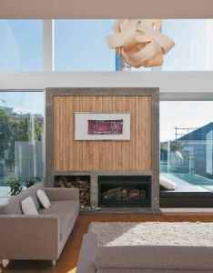 One of the two living spaces with  fireplace and window seat seatshome interiorsarchitecture designliving also rh pinterest