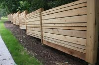 Alternate size planks! Cedar Fence | Honey I'm Home ...