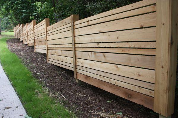 Horizontal Cedar Fence Ideas