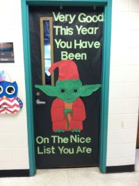Star Wars Christmas Yoda Classroom Door | 2015-2016 school ...