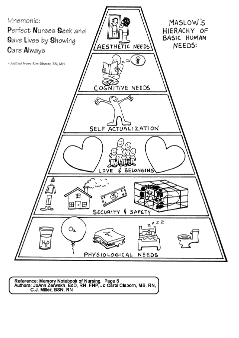 Maslow's Hierarchy: Perfect Nurses Seek and Save lives by