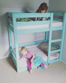 Bunks Modified For Crib Mattresses Toddler Bunk Beds Diy Do It Yourself Home Projects From