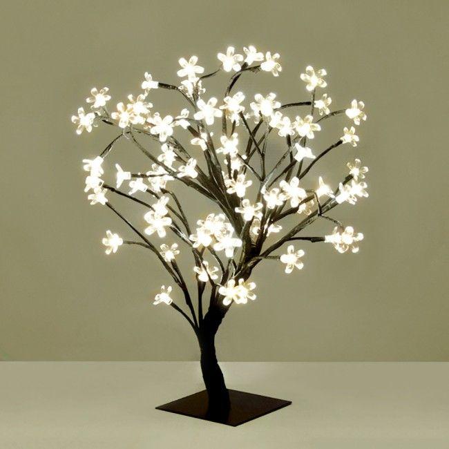 Small Decorative Warm White Blossom Sakura Style LED Tree