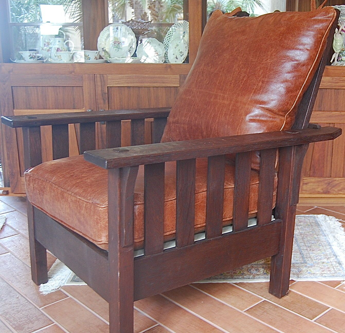 arts and crafts style chair gray covers jm young morris stickley mission