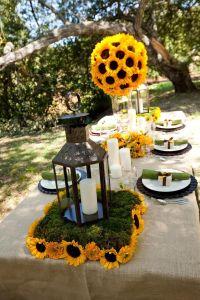 winter sunflower weddings | Sunflower Wedding Decor Ideas ...