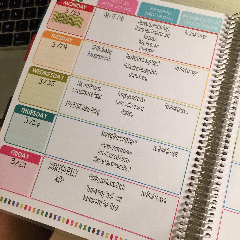 Digital Teacher Planner Editable Lesson Plan Template By