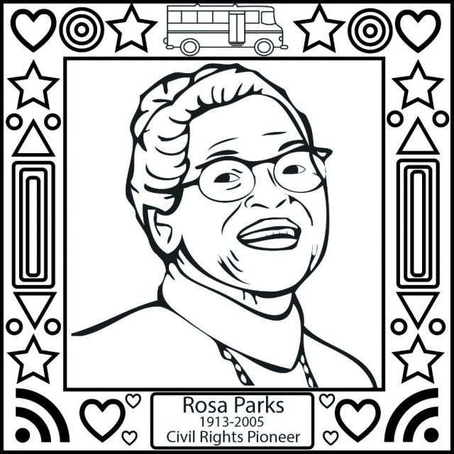 Black history coloring pages for child