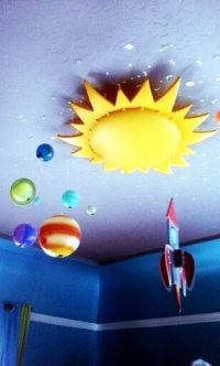 Ikea sun light, rocket ship and planets.Smila Sol ceiling ...