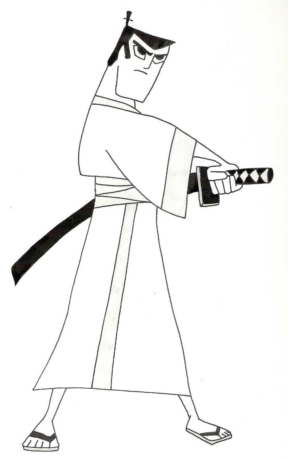 Samurai Jack, dibujito animado cubista, o con muchas