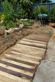 Crumbs Wooden Pallet Walkway Footpath Craft