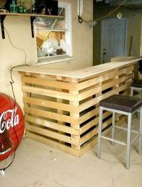 DIY Pallet Bar | Pallet Furniture DIY | Pallet Craft Ideas ...