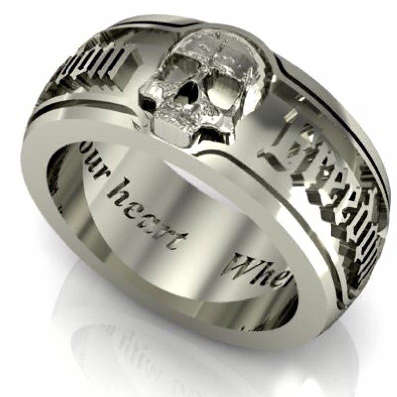 ideas skull wedding rings  My Babys Ring  Pinterest