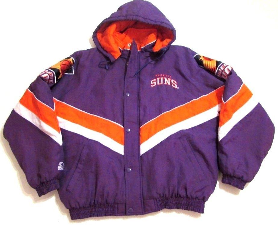 90s Nba Phoenix Suns Starter Heavy Weight Jacket Vintage