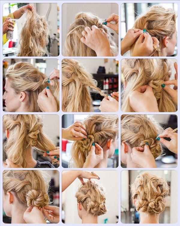 Messy Twist Hair Style Tutorial Hair Pinterest Dreht Haar