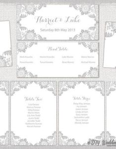 Printable lace wedding seating chart template for you to customize and make your  also rh pinterest