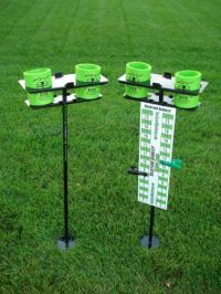 Backyard game scoreboard and drink holders | Porch and ...