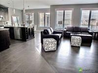 Clean tile to hardwood floor transition. Looks seamless ...
