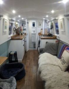 Absolutely gorgeous narrowboat re fit also house boat interiors rh pinterest