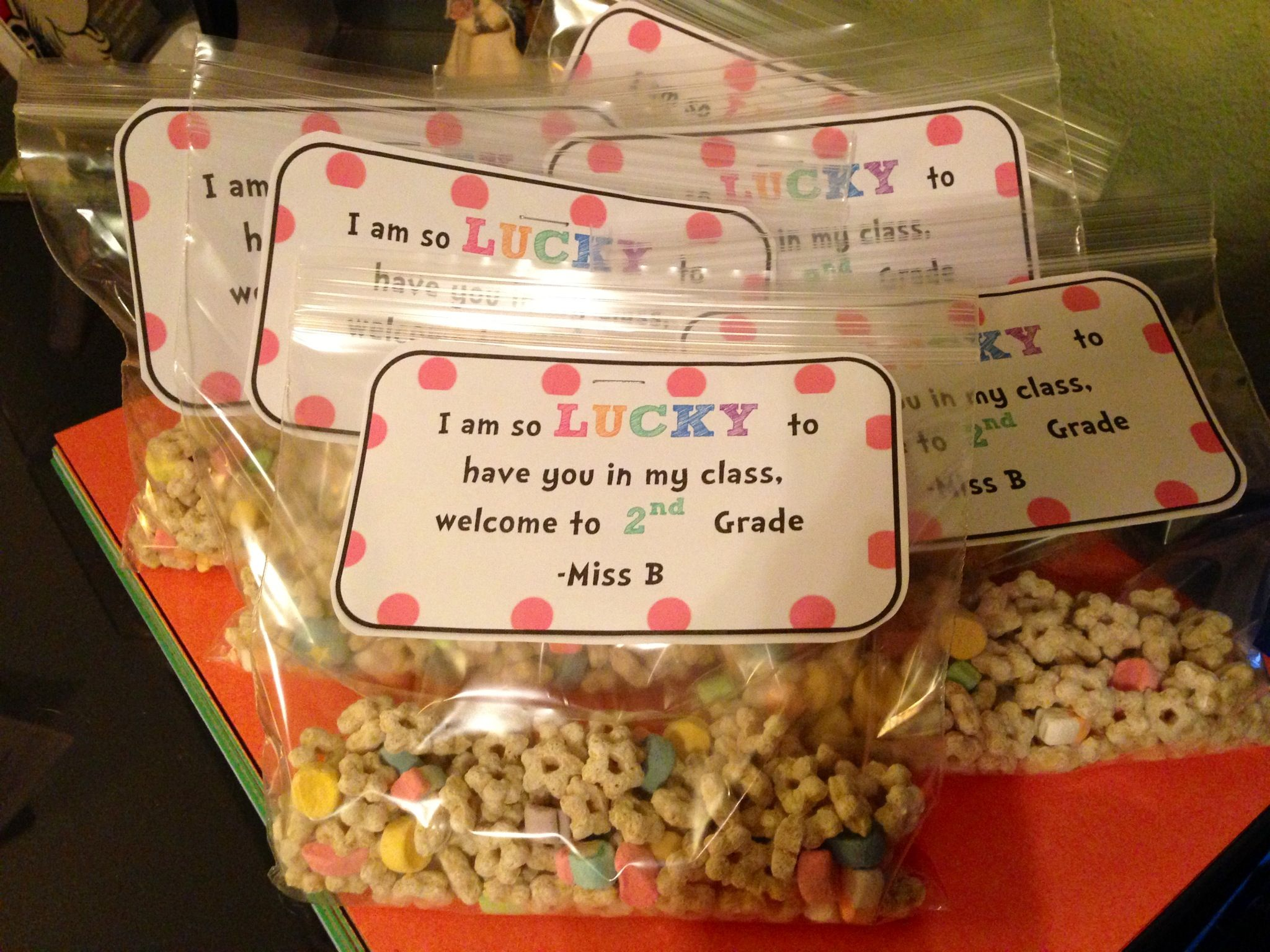 Open House Treat For Students Lucky Charms Snack Attack