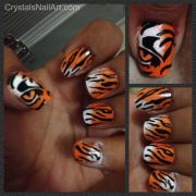 tiger stripe nails ideas