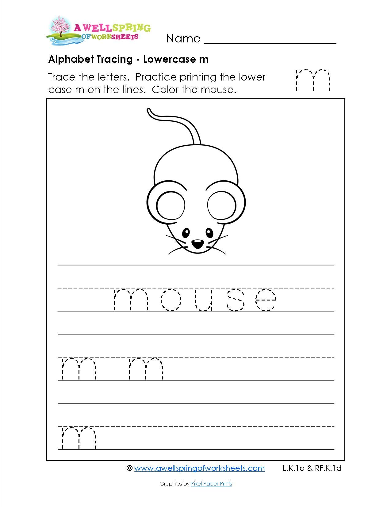 Alphabet Tracing Pages For Lowercase Letters