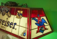 Stained Glass BUDWEISER pool table light Vintage 1972 ...