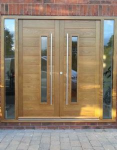 Contemporary front doors oak iroko and other woods bespoke also best images on pinterest rh in