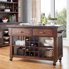 Wine Rack Island Kitchen Bulbs Norwood 2 Drawer Cart With