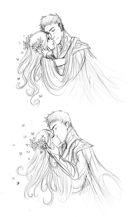 I really love your drawings of Hades and Persephone! :D Is