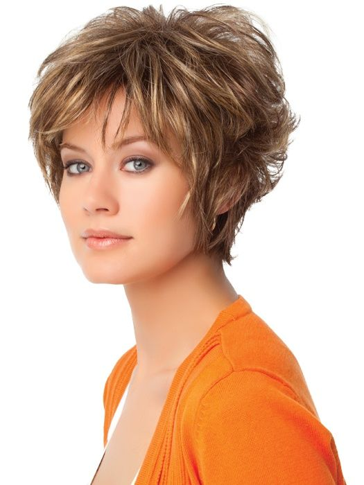Short Layered Hairstyles For Women's Thick Curly Hair Thick