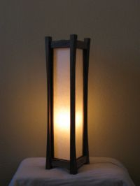 Black Walnut Floor Lamp with Tarditional Washi Paper Shade ...