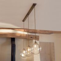 Holborn Triple Pendant Track in Antiqued Brass | lighting ...