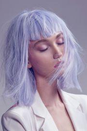 lovely bright lavender locks. blunt