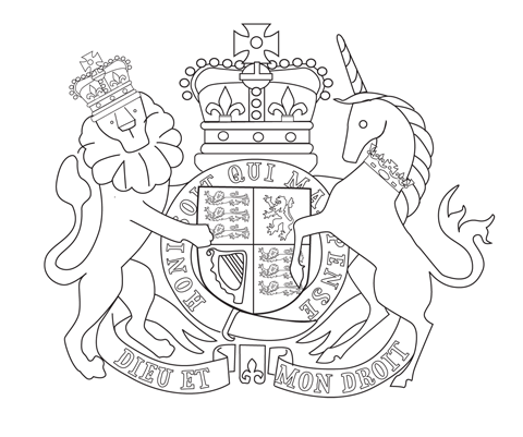 royal coat of arms queens diamond jubilee coloring