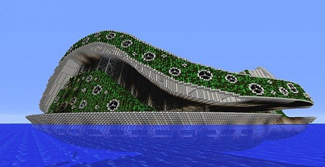Lilypad City Eco Floating City Minecraft Building Ideas 9 640