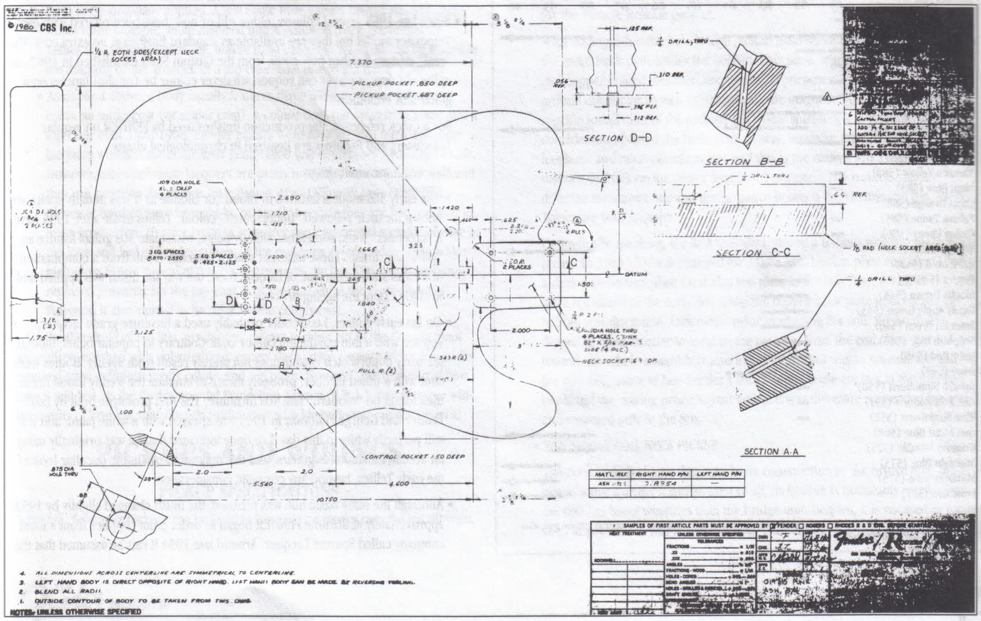 p bass body dimensions 1997 f150 fuse box diagram telecaster blue print 1980 cbs guitar misc pinterest