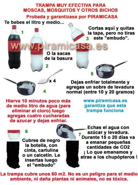 Trampa para mosquitos y moscas  TIPS Y TRUCOS VARIOS