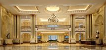 Luxury Hotel Lobby Hall
