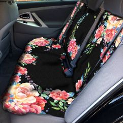 Cover Chair Seat Car Jcpenney Wingback Covers Classy Black Floral Back