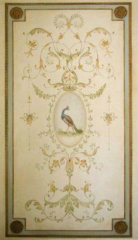 Wall stencil Versailles Grand Panel LG - amazing detail ...