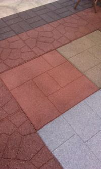 100% recycled rubber flooring tiles add long lasting