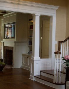 Pic is small but this how  think the column will come out sans trim on wall also interior columns connected  beam running along ceiling ideas for rh uk pinterest