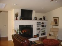 Built-in shelving next to fireplace | Home Project ...