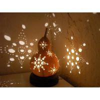 Gourd Snowflake Lamp   Lamp DIY   Pinterest   Gourds ...