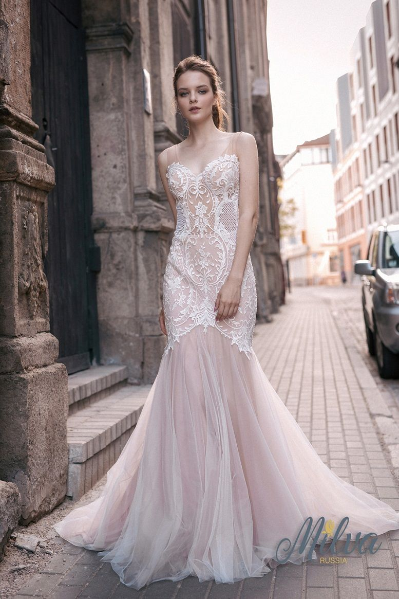 Sleeveless sweetheart neckline fully embellishment fit and flare wedding gown milva #wedding #weddingdress #weddings #weddinggown