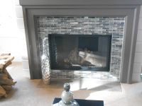 glass mosaic fireplace accent | Fabulous Fireplaces ...