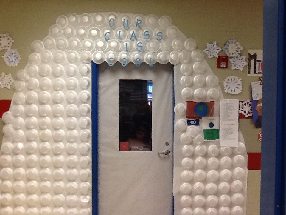 Our Cool Class Igloo out of paper bowls Our kids loved it