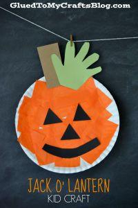 Paper Plate Pumpkin {Kid Craft} | Paper plates, Kid crafts ...