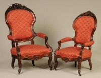 Victorian Upholstered Chairs Ca. Late 1800s Lot of two ...