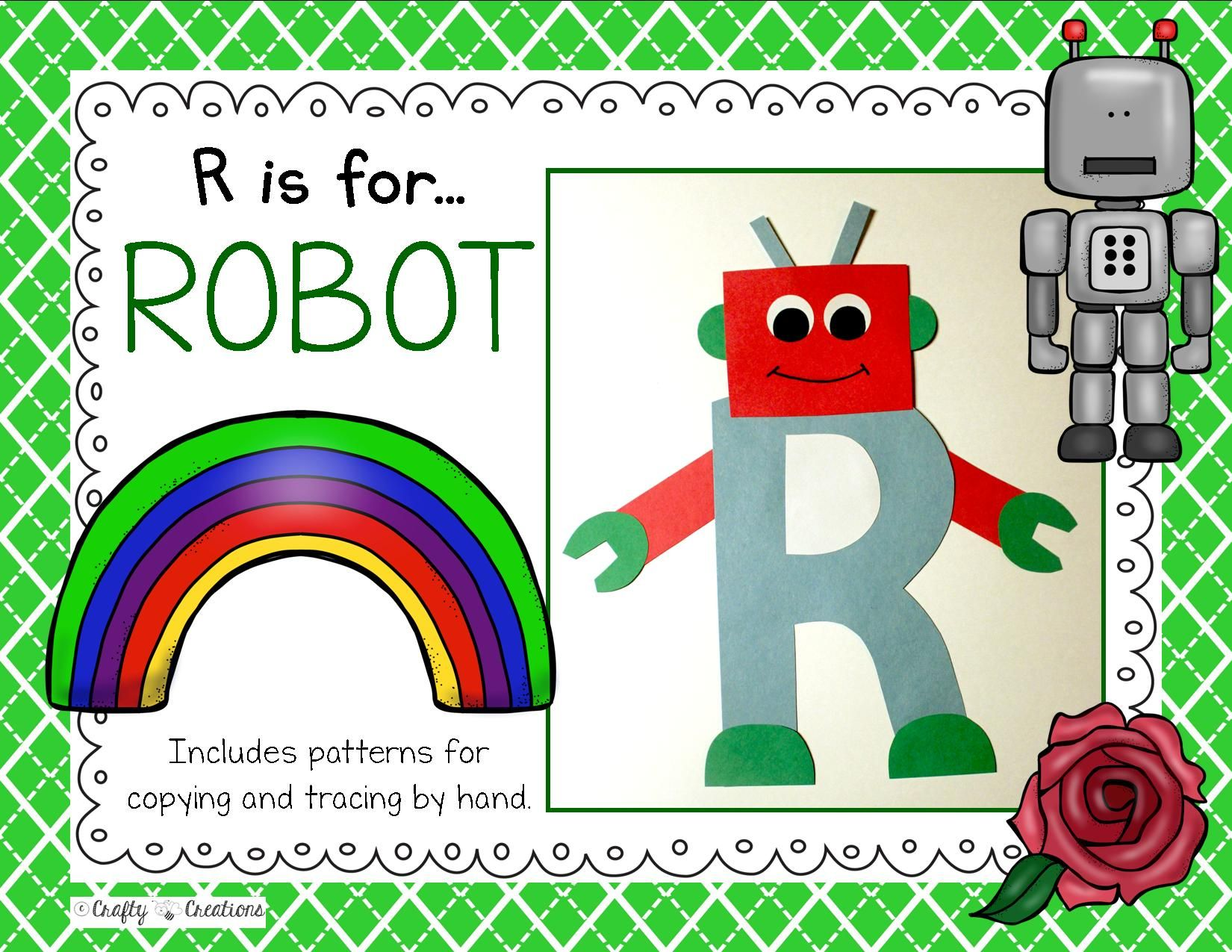 Letter R Robot Cut And Paste